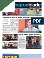 washblade.com – vol. 41, issue 31 – July 30, 2010