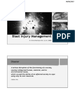 Blast Injury Management