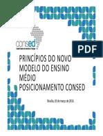 Principios Do Novo Modelo Do en - CONSED
