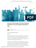 access is not enough  the new thinking needed to close the degree attainment gap   alison m