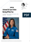 first african-american astronaut for space station blasting off next year