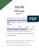 Actividades Tercer Año Secciones B-C Materia Lengua Profesora Zoraya Pineda