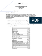Examen Costo Presupuestos UPC