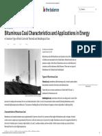 Bituminous Coal Characteristics