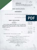 British Army Dress Regulations 1913[Amendments] with 1911 Regulations