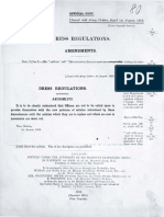 British Army Dress Regulations 1913[Amendments] with 1911 Regulations