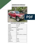 Valuacion de Un Vehiculo