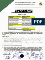 Acta 5/2017 Comité de Seguridad y Salud Laboral Tragsa UT 2 CV