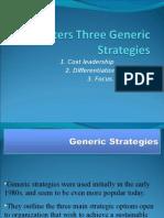 PPT Porters Three Generic Strategies
