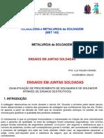 Metalurgia Da Soldagem - Ensaios Em Juntas Soldadas