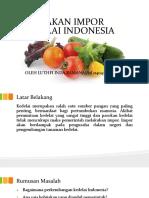 Kebijakan Impor Kedelai Indonesia