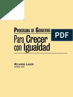 Programa de Gobierno Ricardo Lagos 2000-2006