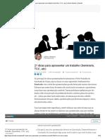 21 Dicas Para Apresentar Um Trabalho (Seminário, TCC, Etc) _ Juliano Martins _ LinkedIn