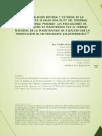 Justificación Interna Externa Sentencia 01460 2009 Pa Tc