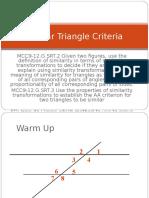 Similar Triangle Criteria