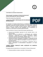 Licenciatura en Comercio Internacional
