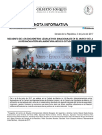 05-06-17 Recuento de los encuentros legislativos binacionales en el marco de la LIII Reunión Interparlamentaria