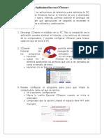 Practica Optimización con CCleaner