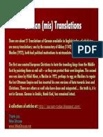 Quran.(Mis)Translations 031107 091410