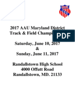 AAU Maryland District Qualifier Info