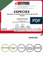 Especies PIP - Ica