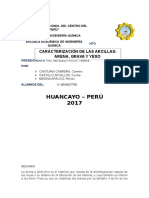 Informe de Arenas Grava y Yeso