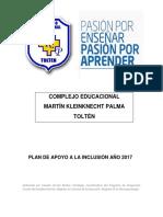 Plan de Apoyo a La Inclusión MKP 2017
