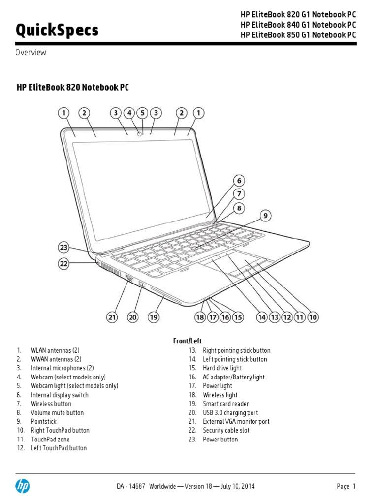 hp elitebook 820 g1 wifi drivers