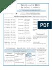 3rd Qrt 2010 Schedule