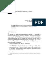 Jerarquía Entre Leyes Federales y Tratados México