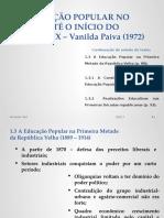 A Educação Popular No Brasil - Prof Elias