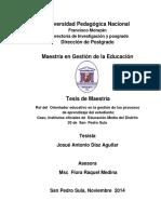 Rol Del Orientador Educativo en La Gestion de Los Procesos de Aprendizaje Del Estudiante Caso Institutos Oficiales de Educacion Media Del Distrito 20 de San Pedro Sula