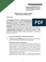 Predictamen sobre proyectos de penalización de las diversas formas de Discriminación.