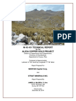 Technical Report on the Alicia Copper Gold Project
