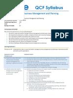 abe Strategic Business Management and Planning_Syllabus_level 7