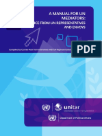 A Manual for UN Mediators -Advice From UN Representatives and Envoys