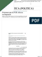 02-06-17 Proponen Que La PGR Ofrezca Recompensas - Grupo Milenio