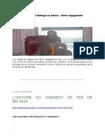 Gisement de fer de Belinga au Gabon – Notre engagement