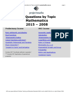 2015 - 2008 Mathematics - All Topics