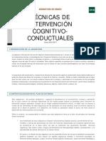 Tecnicas de Intervencion Cognitivo Conductuales