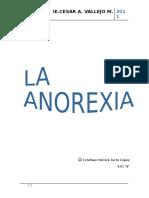 Monografia Sobre La Anorexia
