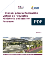 Manual Para La Radicacion Virtual de Proyectos