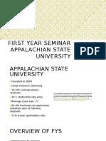 program development - first year seminar