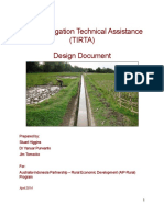 Tertiary Irrigation Technical Assistance Tirta Design Doc