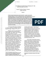 Cautilli & Hantula (2002) - Interlocking Patterns of Conditional Probability