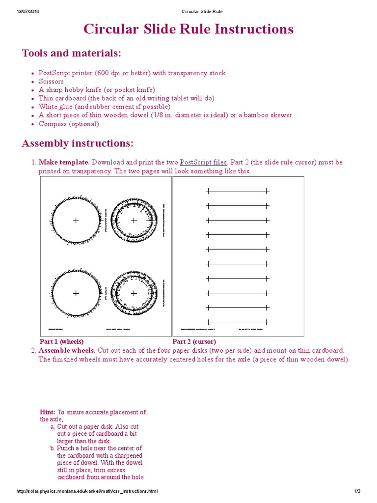 circular slide rule pdf knife computing and information technology