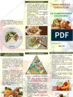 triptico alimentacion saludable