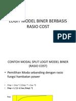 Logit Model Rasio