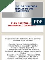 Carta de Lo Derechos Generales de Los Pacientes