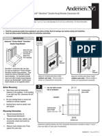 Measurement Guide Tear Pad 400 Series Narroline Conversion Kit Window 9044884